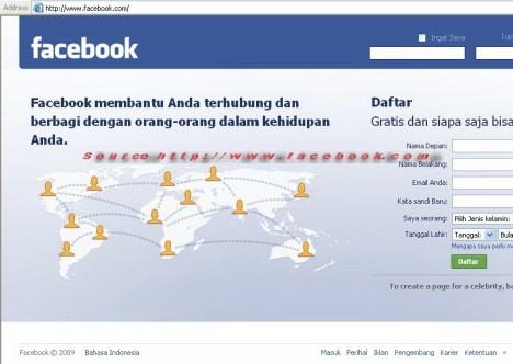 Tampilan Home Facebook