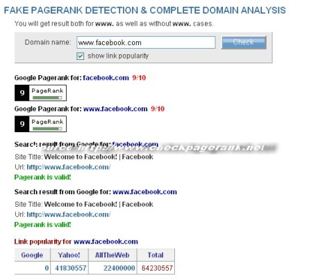 pagerank FB